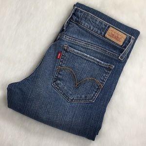 Levis 518 Superlow Bootcut Jeans Lt Distressing